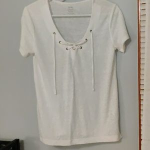 Old Navy cross tied tee